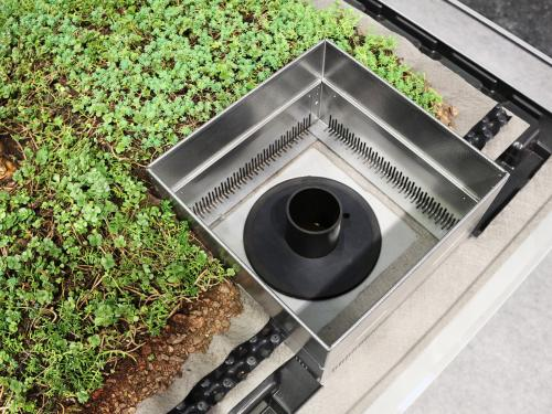 """Stormwater Management Roof"" system build-up"